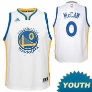 Patrick McCaw Youth Jersey: adidas Home Swingman #0 Golden State Warriors NBA Jersey - White