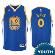 Patrick McCaw Youth Jersey: adidas Road Swingman #0 Golden State Warriors NBA Jersey - Royal