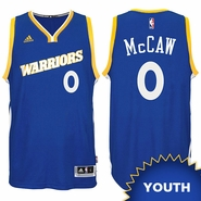 Patrick McCaw Youth Jersey: adidas Stretch Crossover #0 Golden State Warriors Royal NBA Swingman Jersey
