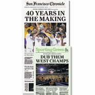 San Francisco Chronicle 5/28/2015 Issue: Warriors Western Conference Finals Champs