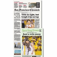 San Francisco Chronicle 6/15/2015 Issue: NBA Finals Game 5 Win