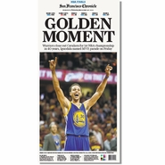 San Francisco Chronicle 6/17/2015 Issue: Warriors GOLDEN MOMENT NBA Finals Champions