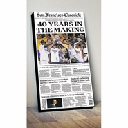 "San Francisco Chronicle Golden State Warriors ""40 Years"" Conference Finals Cover Print"