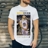 "San Francisco Chronicle Golden State Warriors ""Best Ever"" 73 Wins T-shirt"