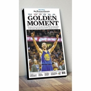 "San Francisco Chronicle Warriors ""Golden Moment"" NBA Finals Champions Cover Print"