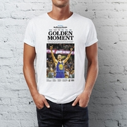 "San Francisco Chronicle Warriors NBA Finals Champs ""Golden Moment"" T-shirt"