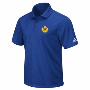 Santa Cruz Warriors adidas CLIMALITE Polo - Royal - Click to enlarge