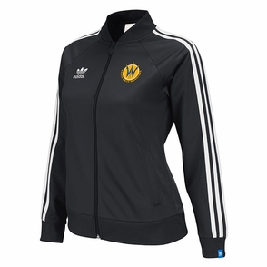 Santa Cruz Warriors adidas Ladies Originals Track Jacket - Black - Click to enlarge