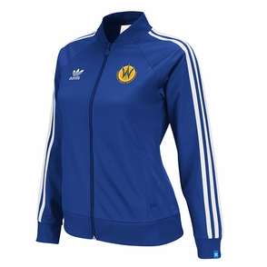 Santa Cruz Warriors adidas Ladies Originals Track Jacket - Royal - Click to enlarge