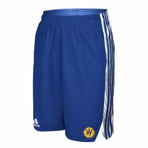 Santa Cruz Warriors adidas Practice Shorts- Royal - Click to enlarge