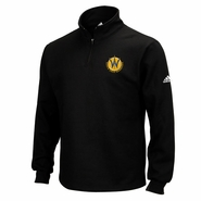 Santa Cruz Warriors adidas Quarter Zip Pullover - Black