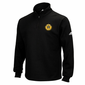 Santa Cruz Warriors adidas Quarter Zip Pullover - Black - Click to enlarge