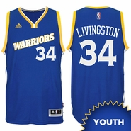 Shaun Livingston Youth Jersey: adidas Stretch Crossover #34 Golden State Warriors Royal NBA Swingman Jersey