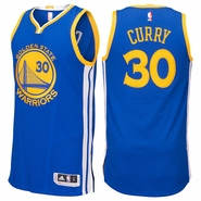 Stephen Curry Jersey: adidas Royal Blue Authentic #30 Golden State Warriors NBA Road Jersey