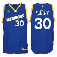 Stephen Curry Jersey: adidas Stretch Crossover #30 Golden State Warriors Royal NBA Swingman Jersey