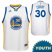 Stephen Curry Youth Jersey: adidas Home White Swingman #30 Golden State Warriors NBA Jersey