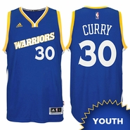 Stephen Curry Youth Jersey: adidas Stretch Crossover #30 Golden State Warriors Royal NBA Swingman Jersey