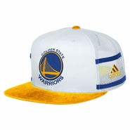 Golden State Warriors adidas 7-Panel Trucker Meshback