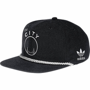 Golden State Warriors adidas Pinched Front Snapback-Black