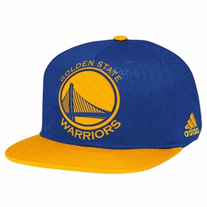 Golden State Warriors adidas Primal Pattern Flat Brim Snapback - Click to enlarge