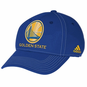 Golden State Warriors adidas Structured Adjustable Cap-Royal - Click to enlarge
