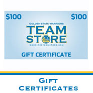 Warriors Team Store: Gift Certificates