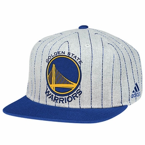 Golden State Warriors adidas Vintage Snapback Cap-Grey - Click to enlarge