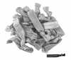 20 Pack Hair Ties Silver