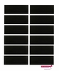 "3"" Cotton Headbands Black 12 Pack"