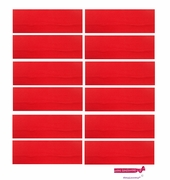 """3"""" Cotton Headbands Red 12 Pack"""