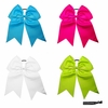 "7"" Hair Bow With Ponytail Holder 4 Pack Brights"