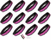 Sequin Headbands 12 Pack Pink and Black