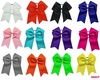 Big Hair Bows 7 inch with pony - 12 pack U Pick your Color