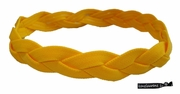 Braided Headband No Slip Grip Yellow