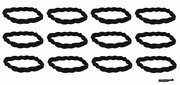 Braided Headbands 12 Pack Black