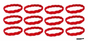 Braided Headbands 12 Pack Red