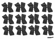 Clip Bow Black 12 Pack