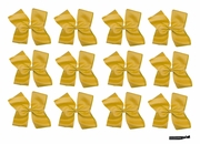 Clip Bow Gold 12 Pack