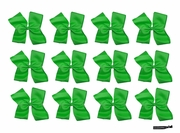 Clip Bow Green 12 Pack