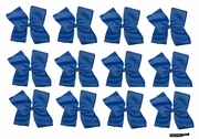 Clip Bow Navy 12 Pack