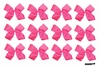 Clip Bow Neon Pink 12 Pack