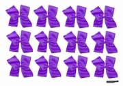 Clip Bow Purple 12 Pack