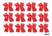 Clip Bow Red 12 Pack