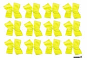Clip Bow Yellow 12 Pack