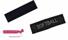 Cotton Headband 2 Pack Black Cotton and Softball Rhinestone Cotton