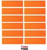 Cotton Headbands 12 Pack Neon Orange