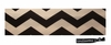 Cotton Stretch Headband Black Chevron