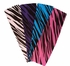 Cotton Stretch Headband Zebra Purple