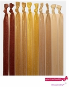 Headbands Fold Over Elastic 10 Pack Brown Ombre