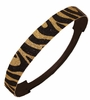 Glitter Headband Black/Gold Zebra
